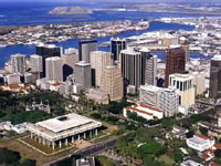 Honolulu Down Town Helicopter tour