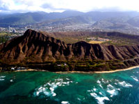 Diamond Head Crater on Helicopter excursion